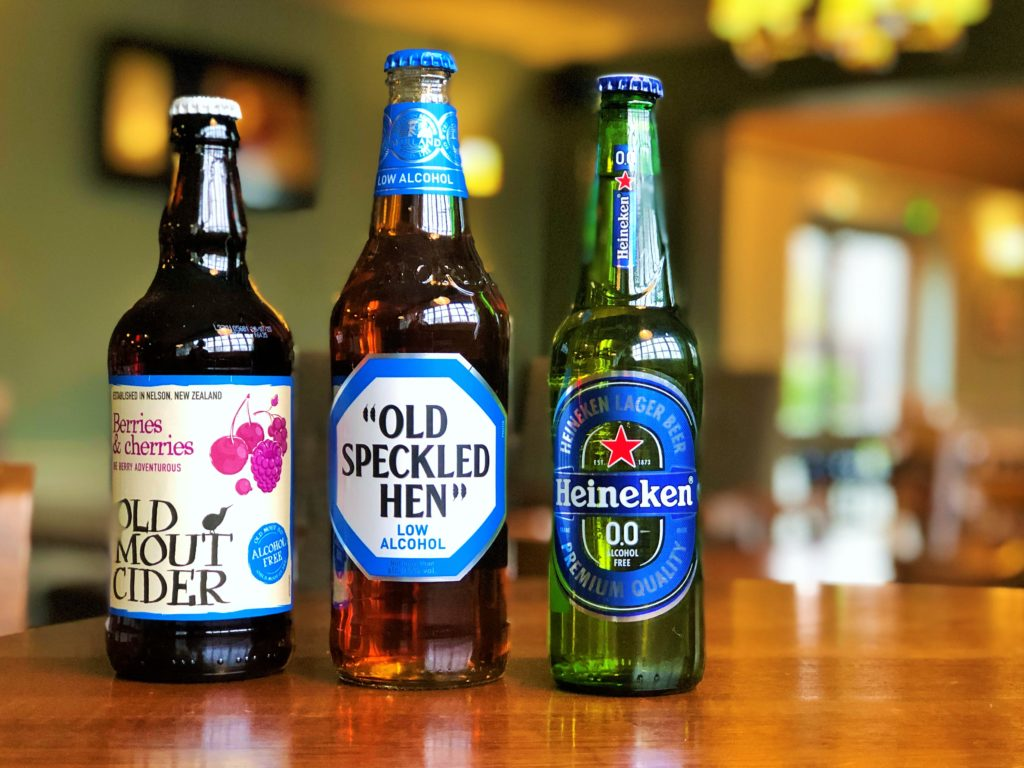 alcohol free and gluten free beer and cider at western arms silver end witham essex