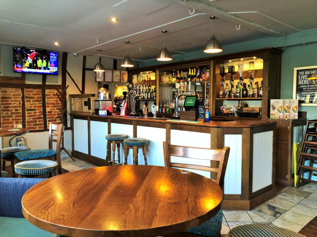 refurbished bar area western arms silver end witham essex