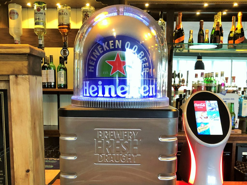 Heineken Zero blade draught dispenser western arms silver end witham essex